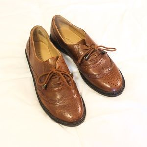 Shoes Brown Leather Oxfords Womens Size 65 Poshmark